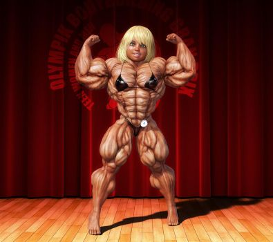 Denise - Double Bicep Pose by lolimuscle