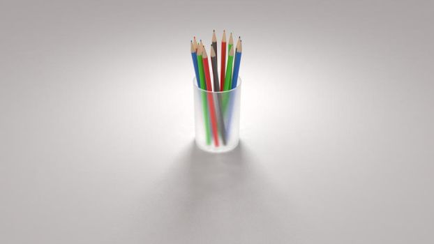Minimalistic Colored Pencils Wallpaper by kahvi