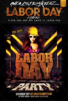 Labor Day Flyer Template by Industrykidz