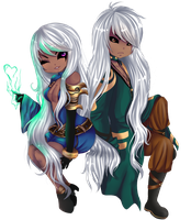 Chibi Point Com: Saeris and Xelubus by Andreia-Chan