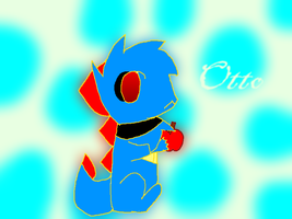 Otto The Totodile by 01pinkmew