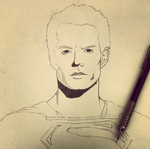 Super Man Sketch by kevinvalverde