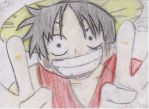 Monkey D Luffy Sketch by An-ANIME-artist