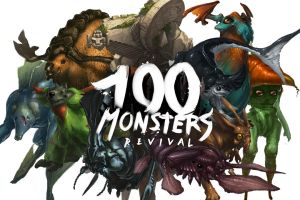 100 Monsters Collage 1 by ATArts