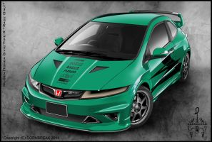 Mugen Honda Civic Type-R by CORNBREAK