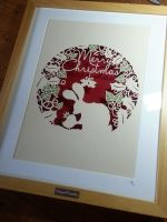 Merry Christmas - Original Papercut by PaperPandaCuts