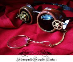 Steampunk Goggles Series 1 by TheBloodMaiden