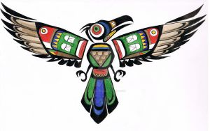 Native American Thunder Bird by BrutalBumble