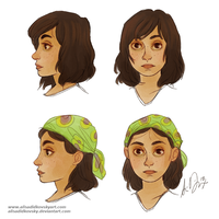 Zhana face and profile by AlisaDidkovsky