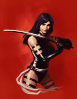 Psylocke: X-Force by brianlaborada