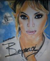 Beyonce (Pastel Chalk Pencils) by GloriaMarie74