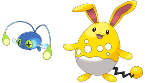 Azumarill and Chinchou Shiny by lilly-gerbil