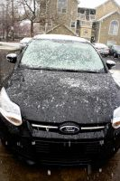 Snowy Ford Focus by LDFranklin