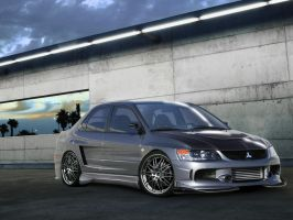 Mitsubishi Lancer Evo by blackdoggdesign