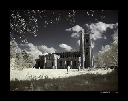 IR - distant church by Raymate