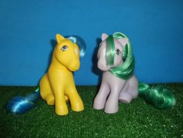 My Little Pony Toy 80's Bubbles and Sea Shell by GraphicPlanetDesign