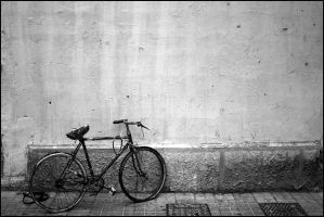 ..then he has left his bicycle by fourthly