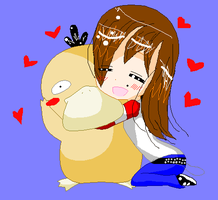 I love you Psyduck by BunnyGirl-666