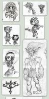 Sketchs and Doodles of 2008 by Platynews