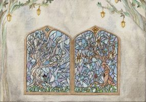 Window to Valinor by luthienancalime