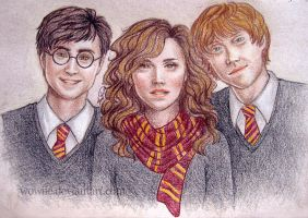 The Golden Trio by Wowiie