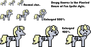 Pixeled House of Fun Style Derpy Hooves by Askre5