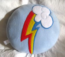 Rainbow Dash cutie mark Pillow Plush by P-isfor-Plushes