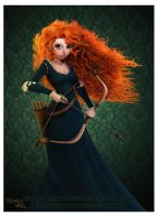 BRAVE Merida Print by renecordova