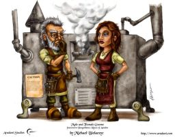Male and Female Gnome by mbielaczyc