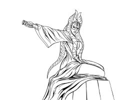 Shaak Ti - lineart by JosephB222