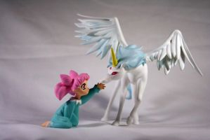 Pegasus and Chibi Usa Painted Garage Kit by PaulineFrench