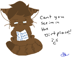 Tigerstar using the dirtplace by xNeonVeins