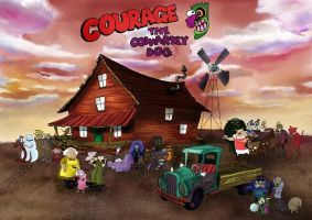 Courage the Cowardly Dog by CornandCucumber