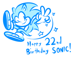 Happy 22nd Birthday Sonic by JamesmanTheRegenold