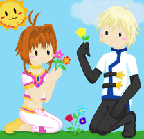 31: flowers-- sakura and fai by Butterfinger-Sharpie