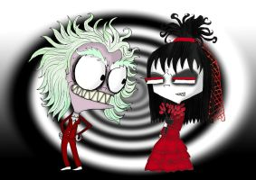 Beetlejuice and Lydia by ScorpionsKissx
