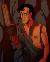 FtM!Ash Williams by mr-book-faced
