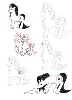 HetaPony Sketchdump by Kaios-Wolf