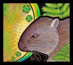 Common Wombat - subsp tasmaniensis - as Totem by Ravenari