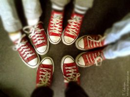 Red All Stars by tedwiges