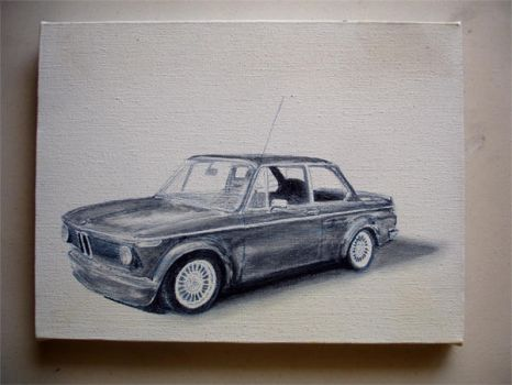 1972 BMW 2002 oilpainting wim3 by Z-Vincent
