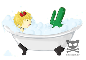 Bath time with mah Cactus by mind-crash
