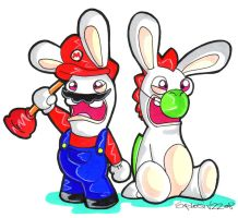 Rabbids cant do Mario.... by Hades-O-Bannon