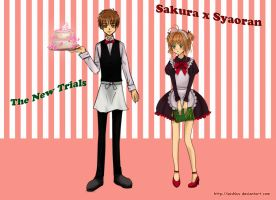 Waiter Syaoran and Sakura by wishluv