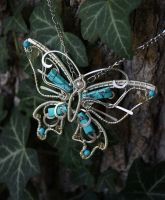 Silver plated butterfly by Egarimea