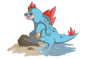 Feraligatr by Queens-of-Chaos