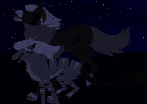 Chasing the night -Late gift- by TigerHunter33