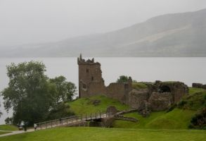 Urquhart Castle-scotland 1 by Sassy-Stock
