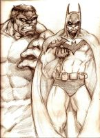 Who would win?  Batman vs. Hulk by MisterHydesSon