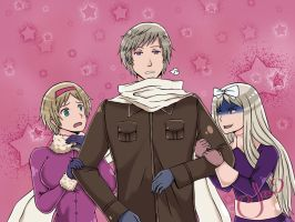 Russia with his sisters be like--- by JaxAugust